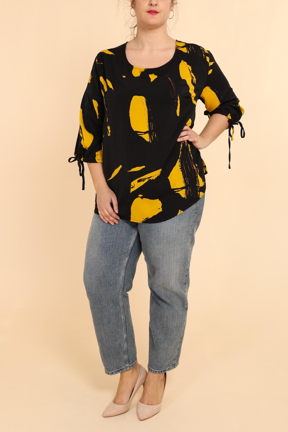 top grande taille femme pomme rouge c6181 jaune 42-56