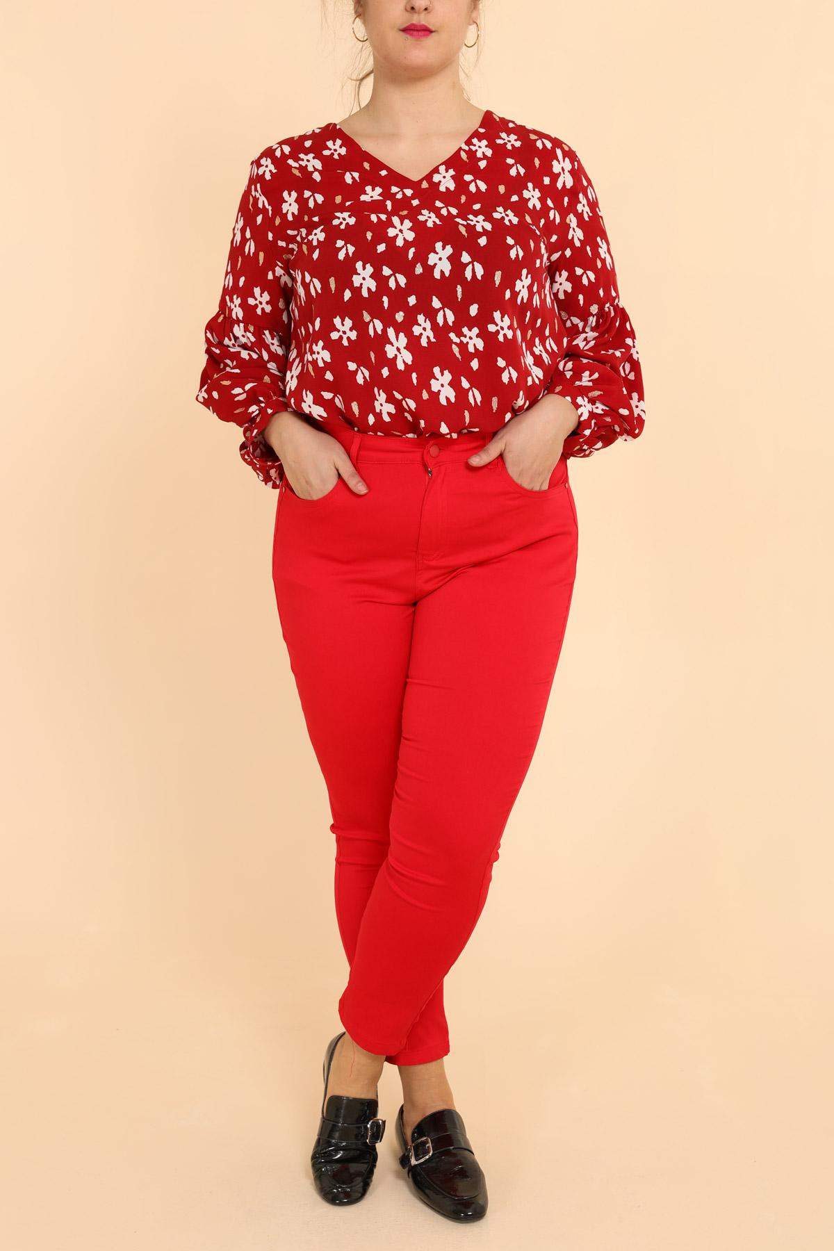 pantalon grande taille femme pomme rouge b302 rouge 42-56