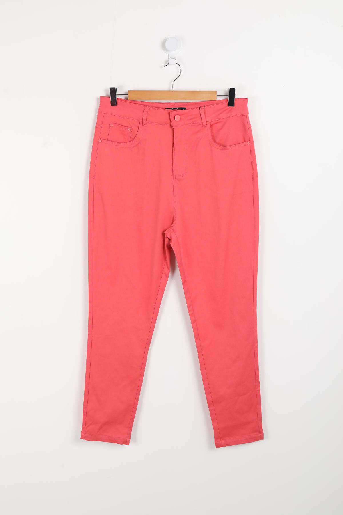 pantalon grande taille femme pomme rouge b302 corail 42-56