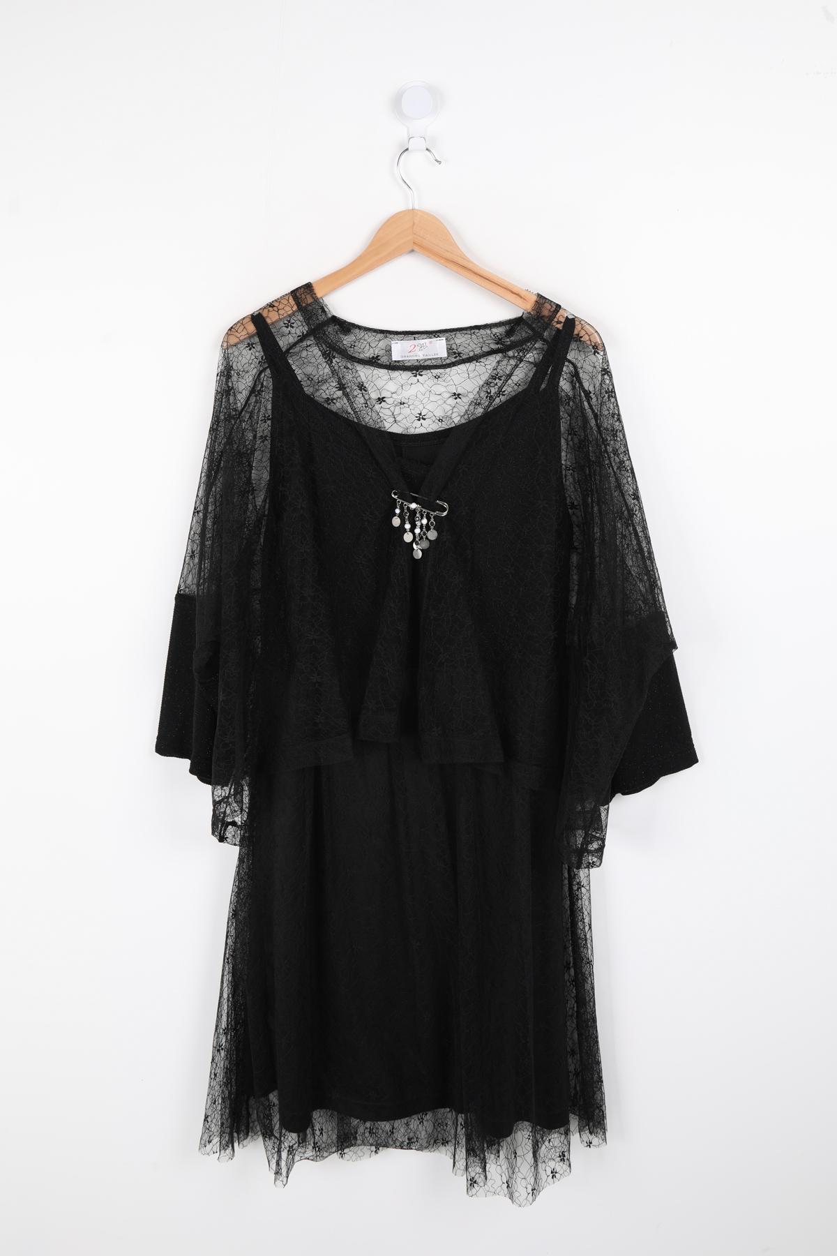 robe grande taille femme 2W PARIS en1300 noir 46-60