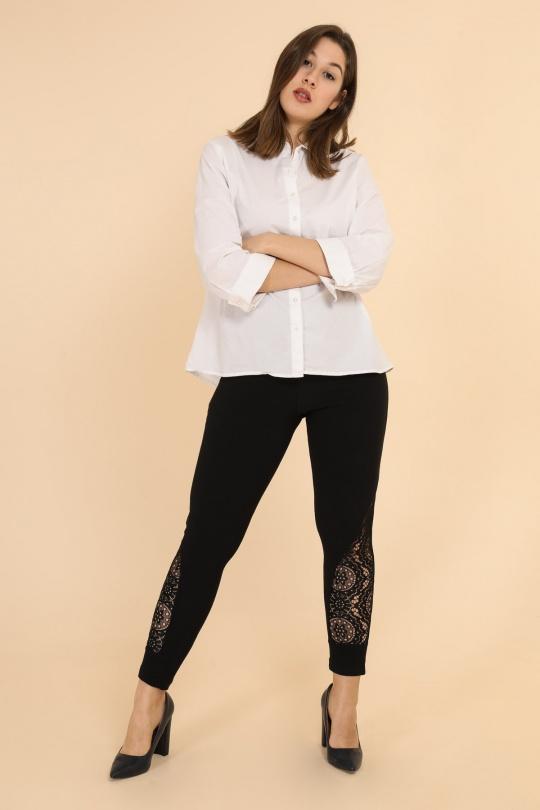 pantalon legging skinny slim grande taille femme 2W PARIS p2118 noir 46-60