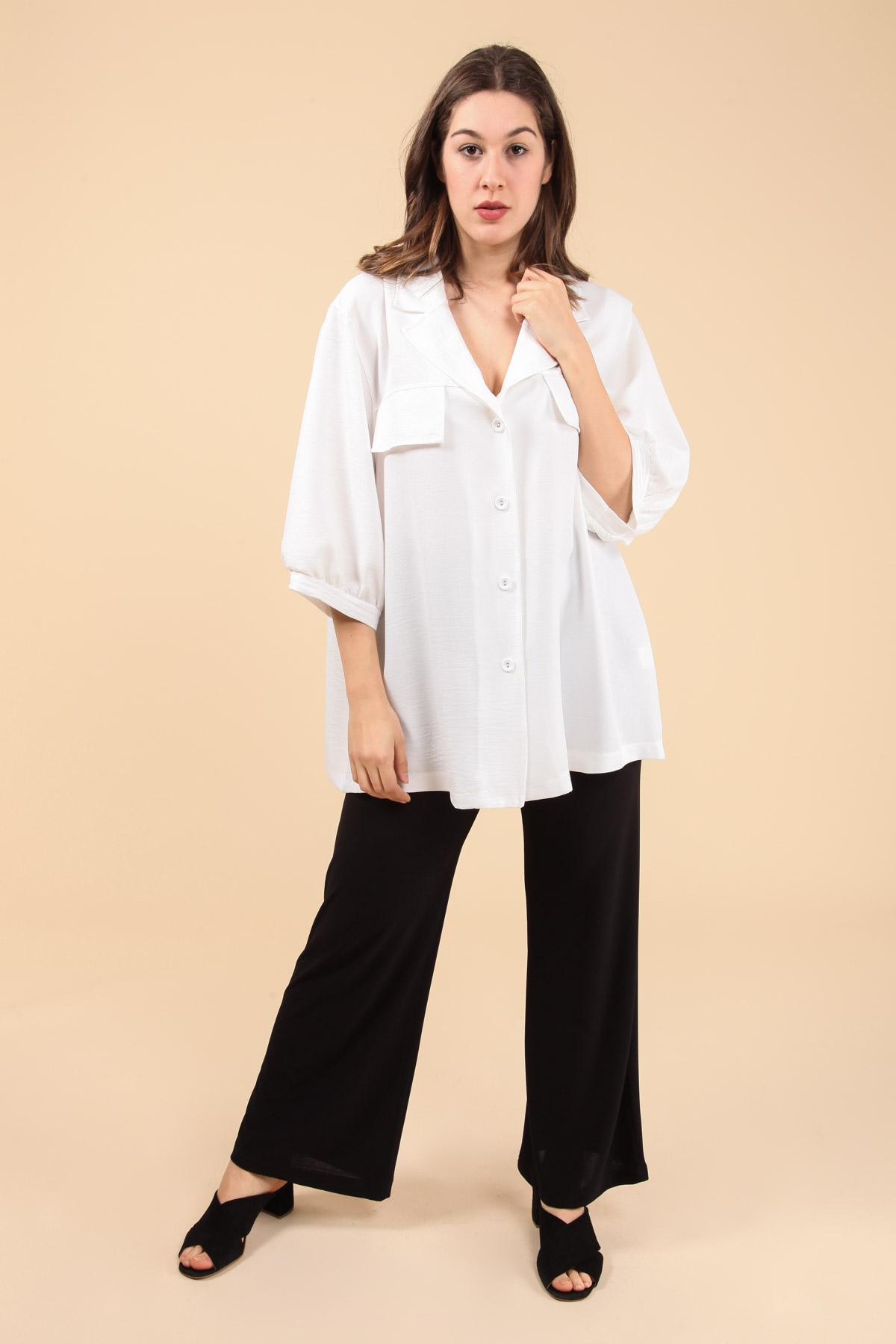 chemise grande taille femme 2W PARIS c1321 blanc 46-60