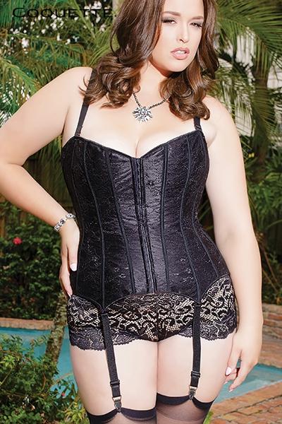 Corset latex lingerie fine grande taille femme Coquette