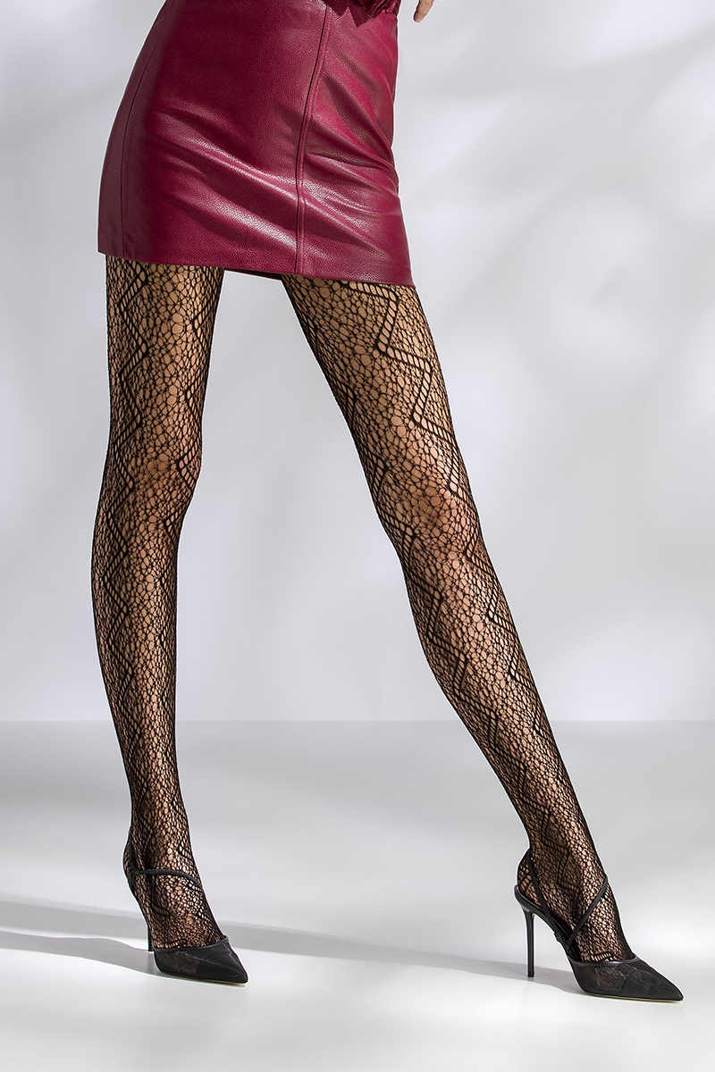 Collants résille TI049 - noir Passion bas et collants