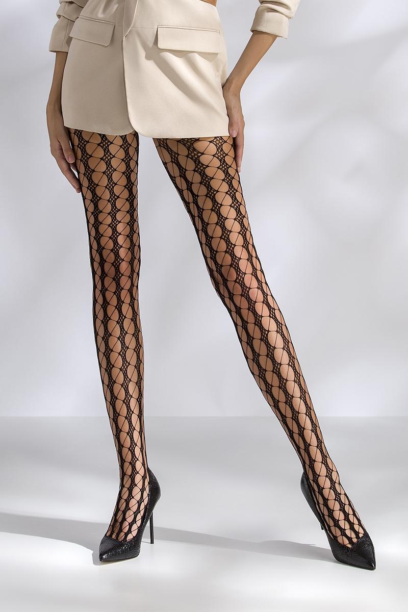 Collant résille noir TI048 Passion lingerie