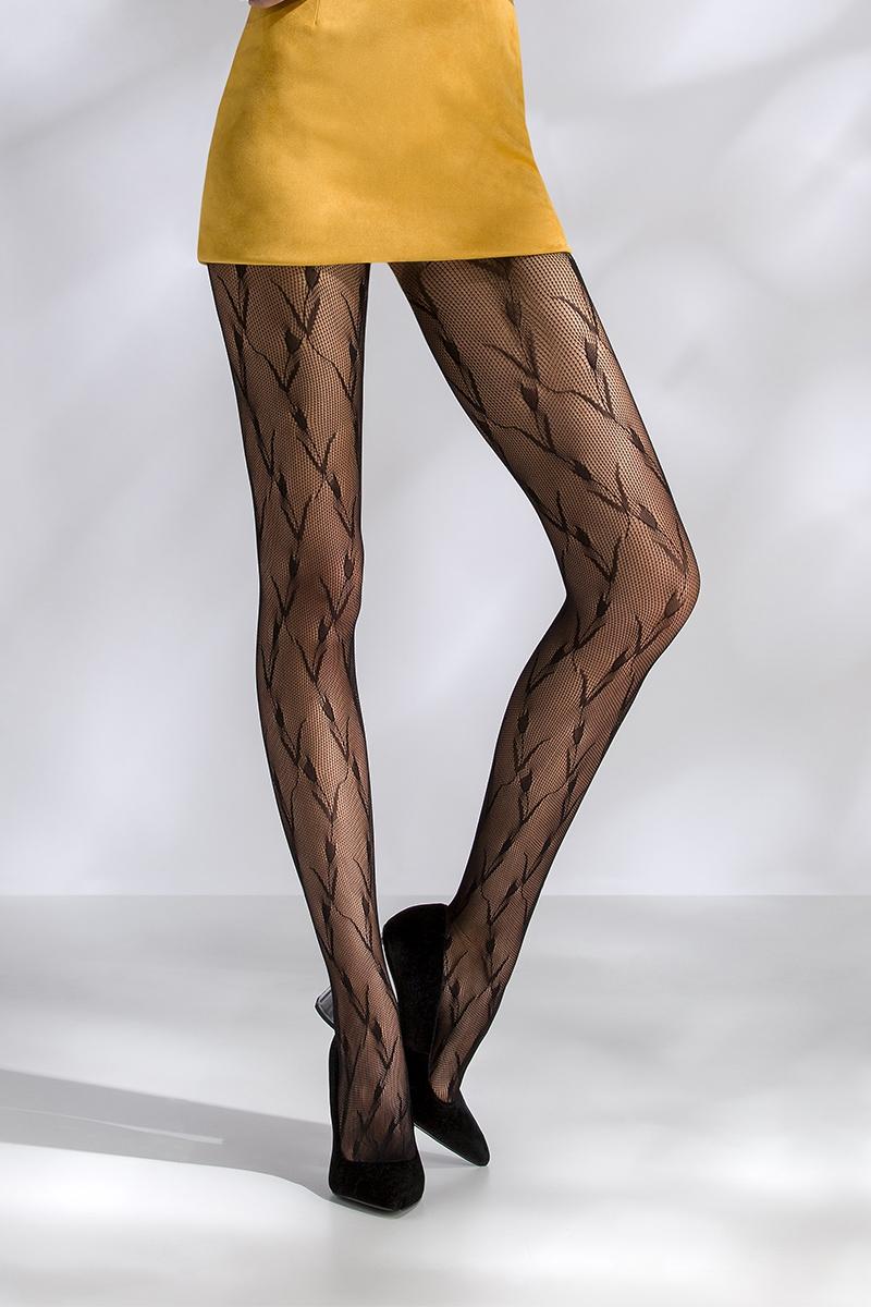 Collant résille noir TI046 Passion lingerie
