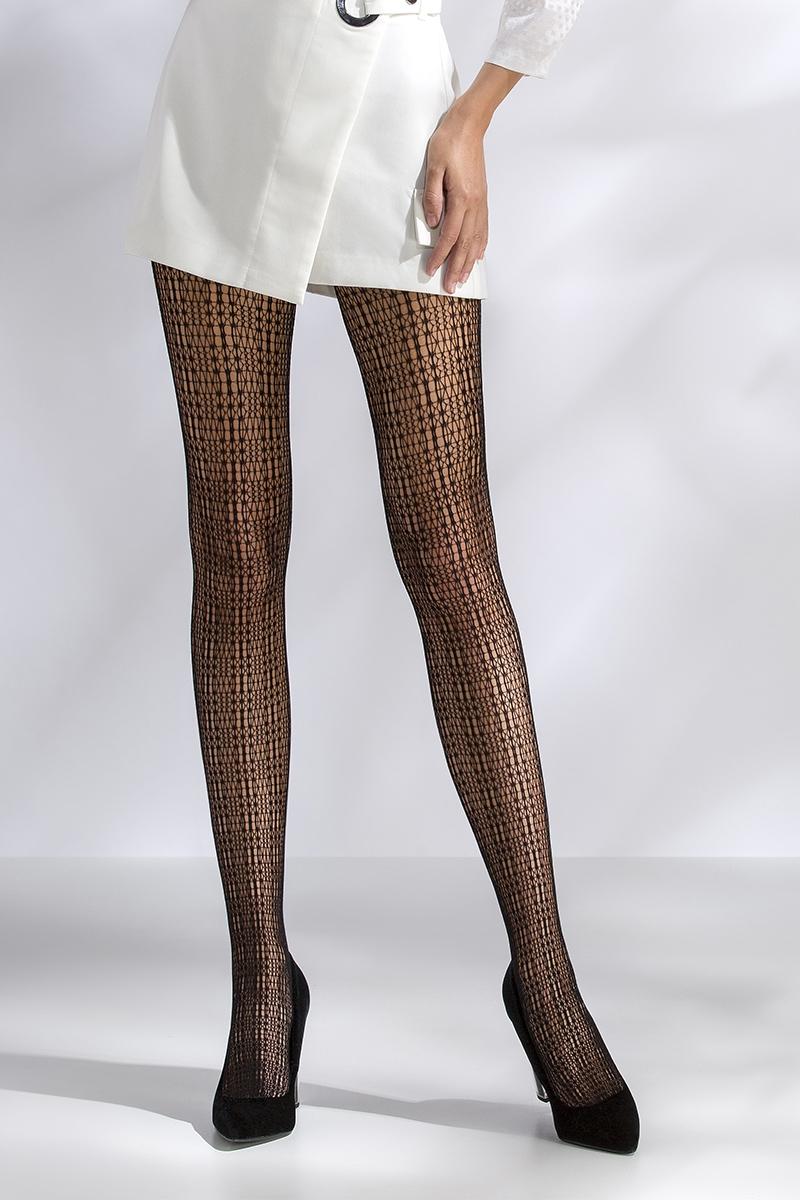 Collant résille noir TI042 Passion lingerie