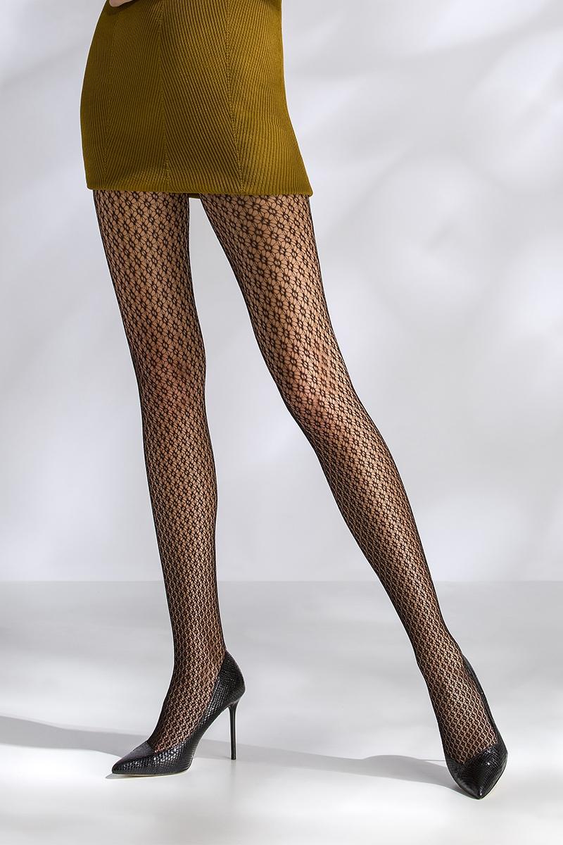 Collant résille noir TI041 Passion lingerie