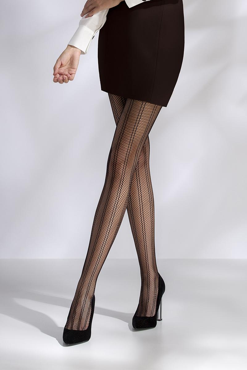 Collant résille noir TI040 Passion lingerie