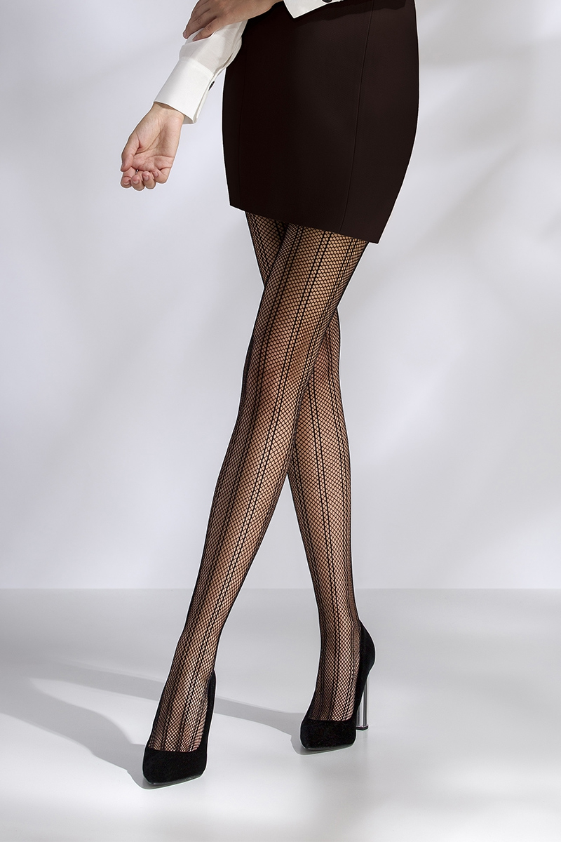 Collants résille TI040 - noir Passion bas et collants