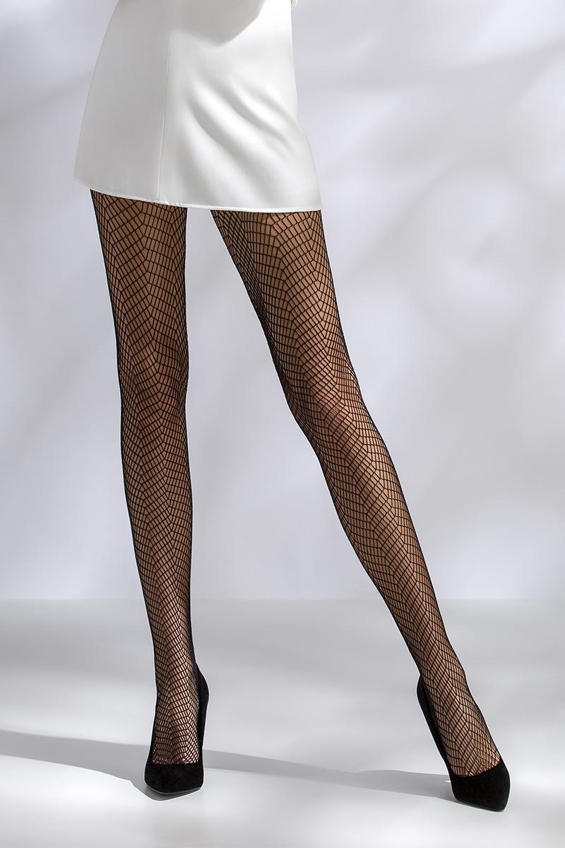 Collant résille noir TI017 Passion lingerie