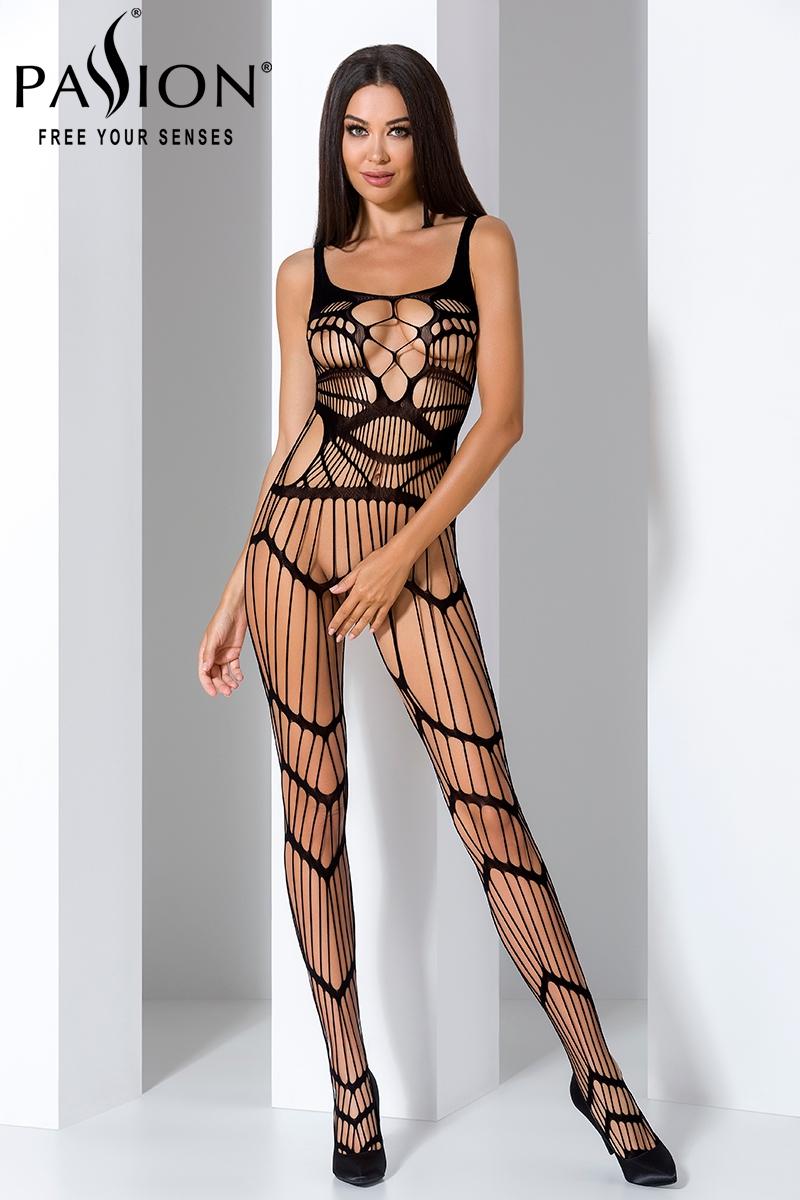 Combinaison sexy femme bodystocking lingerie Passion BS058 noir