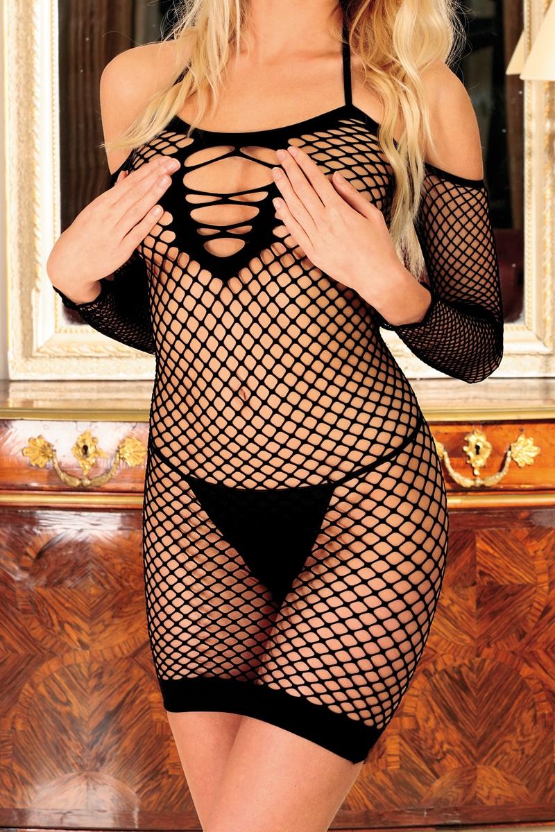 Robe filet ouverte diable innocent noir Anne d\'alès