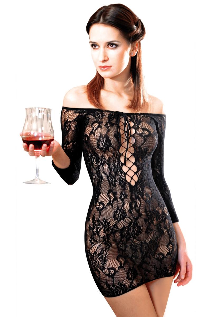 Robe resille fetish dinner noir Anne d\'Alès