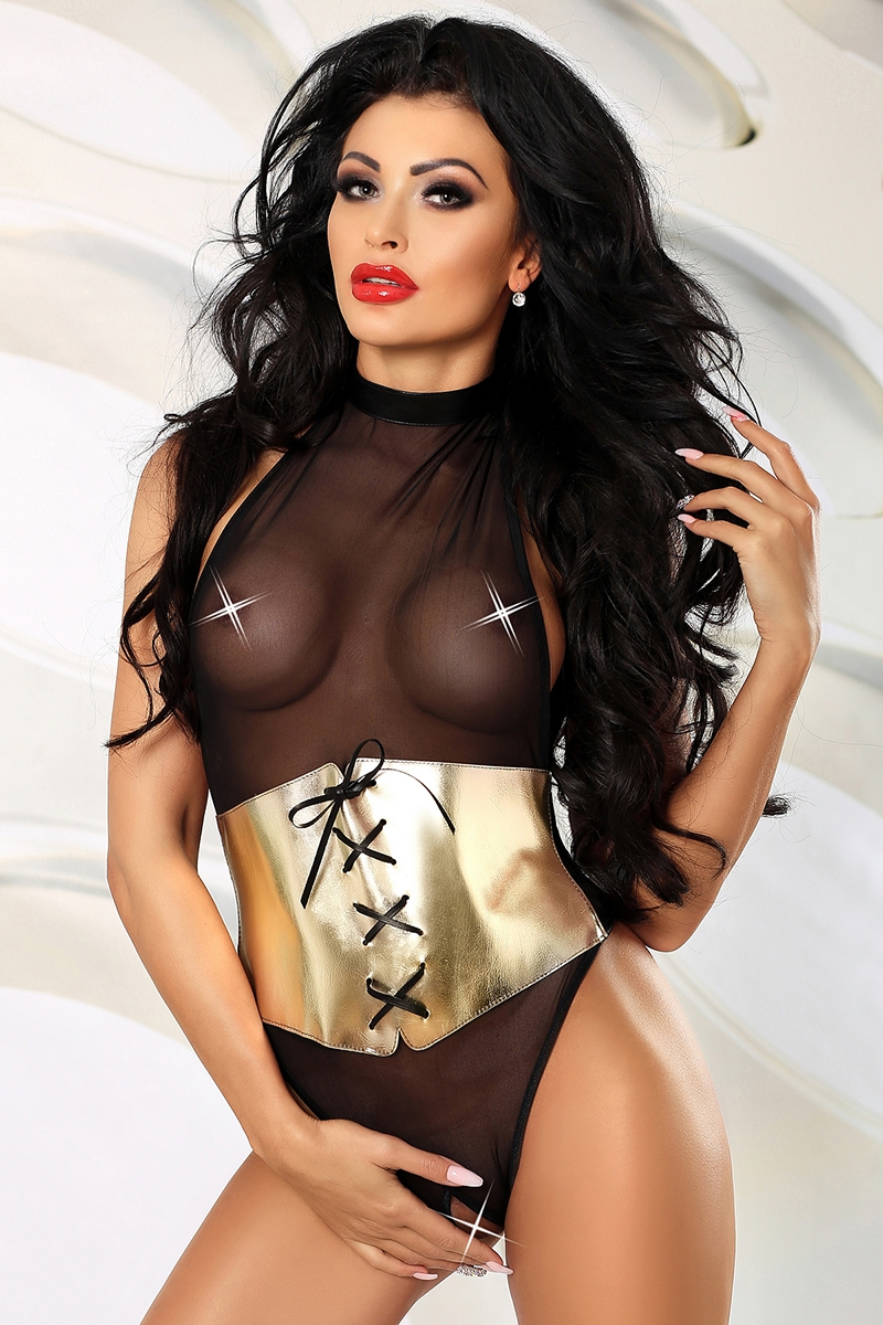 Body string ouvert lavish body sexy fendu lingerie Lolitta