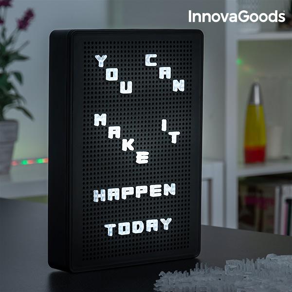 Tableau Perforé pour Insérer des Lettres LED InnovaGoods