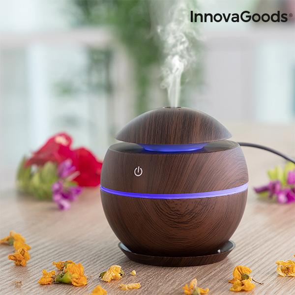 Mini humidificateur diffuseur d\'arômes Dark Walnut InnovaGoods