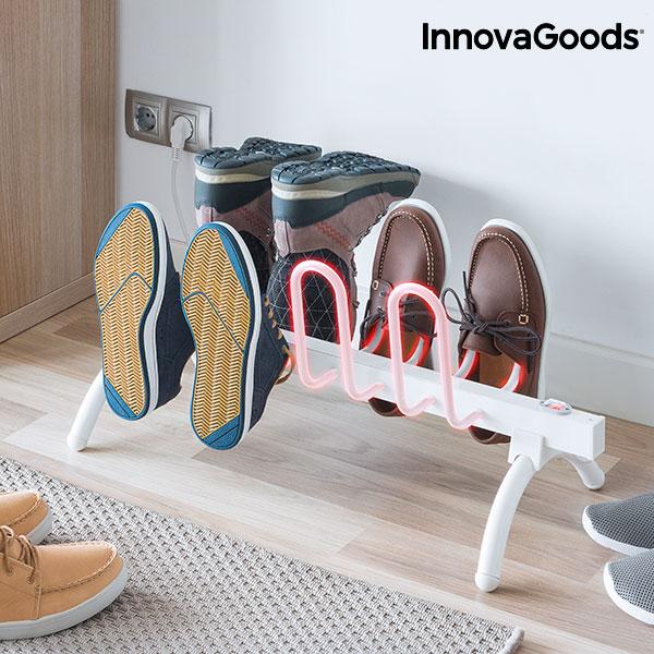 Étendoir Séchoir Électrique à Chaussures InnovaGoods 80W Blanc