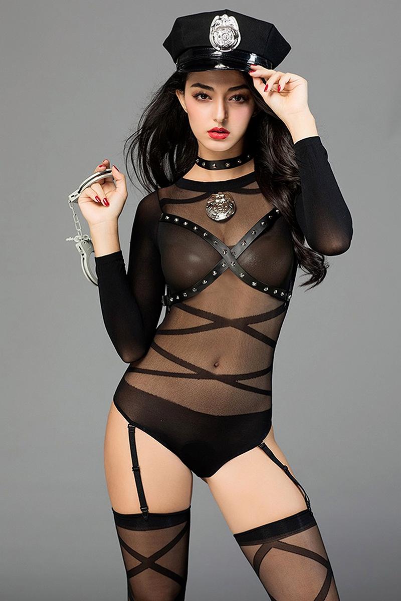Deguisement policiere sexy Paris hollywood