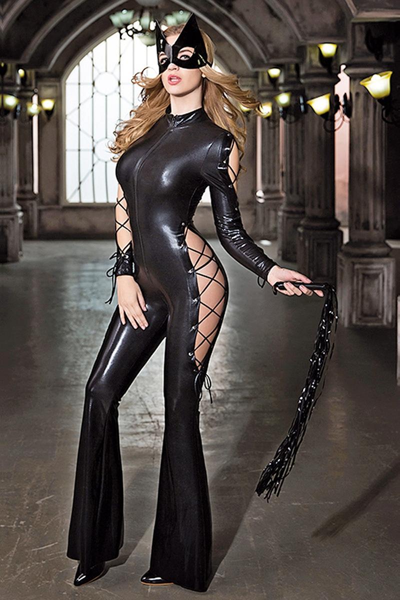 Combinaison catwoman sexy deguisement Paris hollywood lingerie