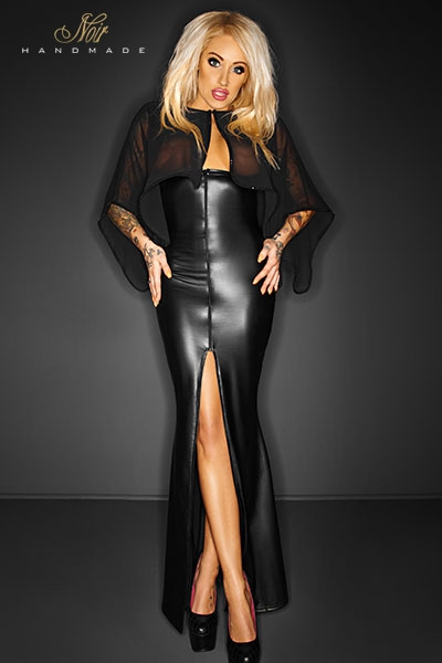 Robe longue Desire noir handmade