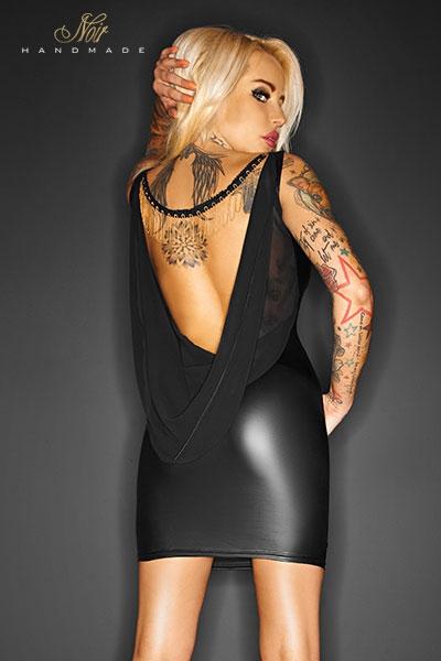 Robe Scandalous noir handmade