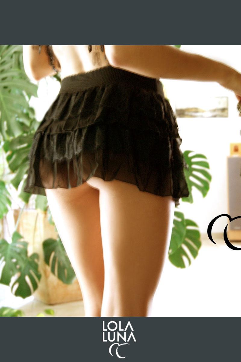 Mini jupe sexy dentelle lingerie fine Lola Luna lingerie