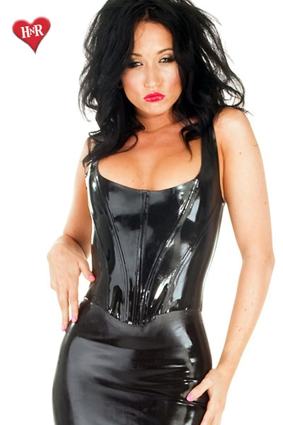 Boned Corset Top Latex honour