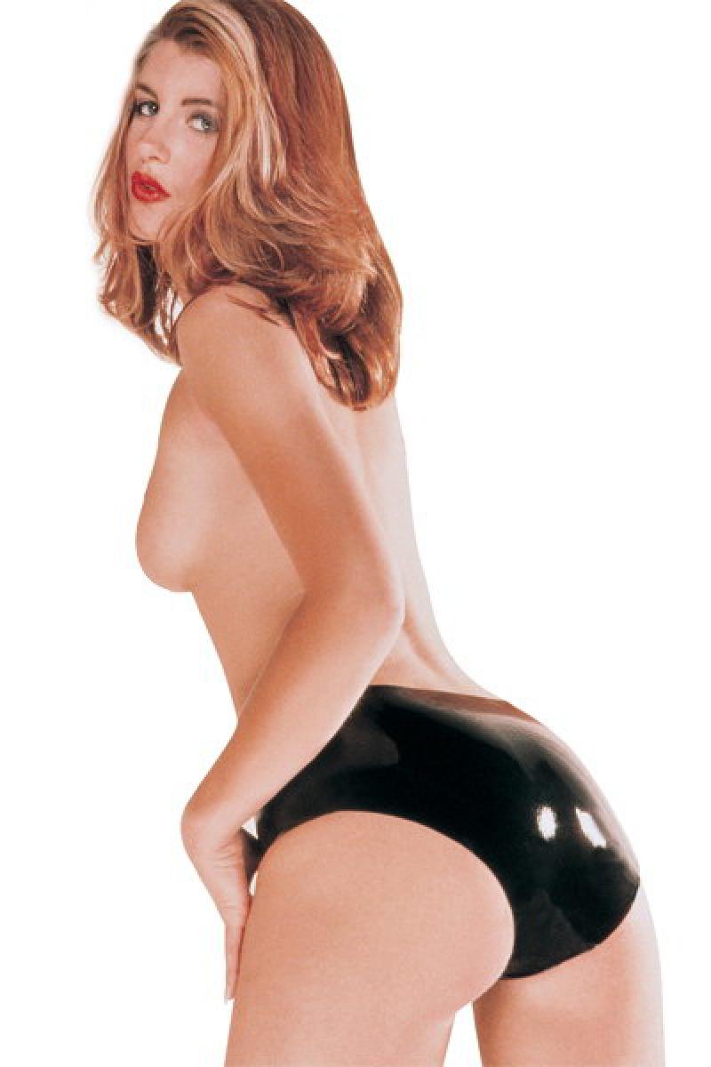 Culotte en latex femme noir lingerie latex Sharon Sloane
