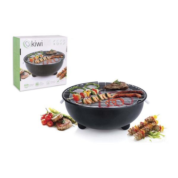 Barbecue Électrique Kiwi KG-5803 Ø 30 cm 1250W Noir