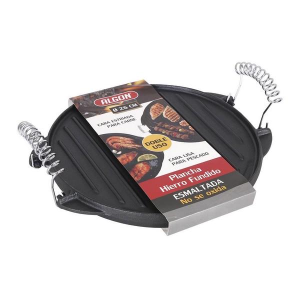 Plaque chauffantes grill 2 In 1 Algon Fonte Noir