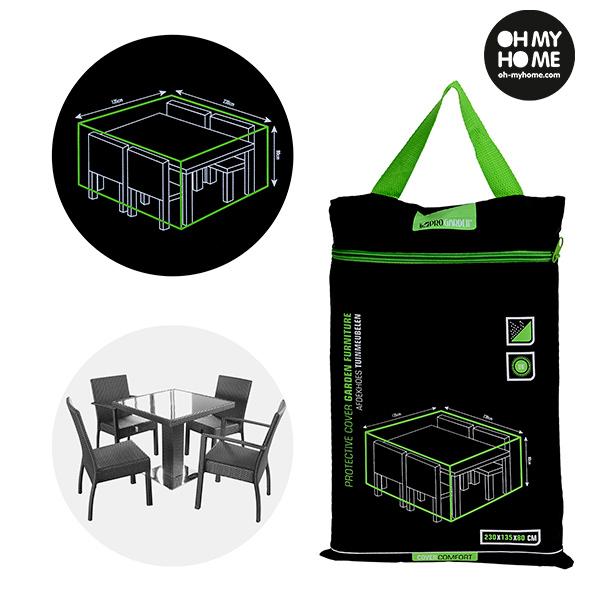 Housse Imperméable pour Table et Chaises de Jardin Oh My Home