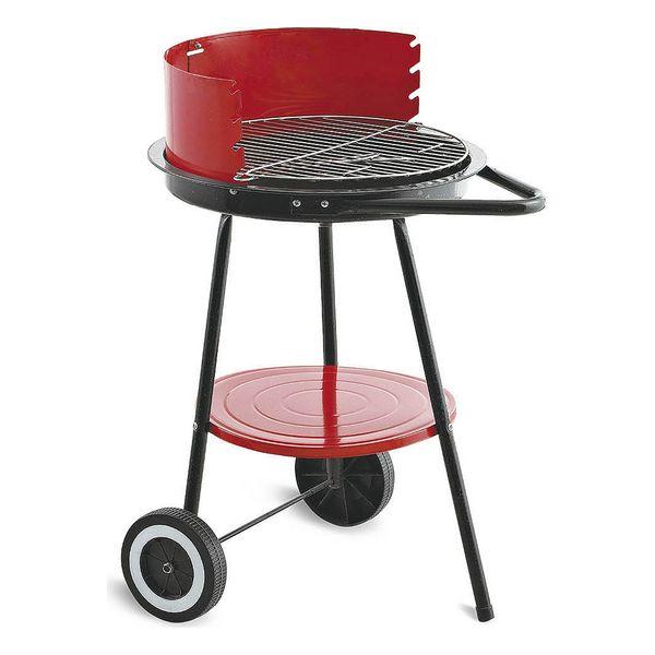 Roues de barbecue au charbon de bois Algon Noir Rouge (ø 43 cm)