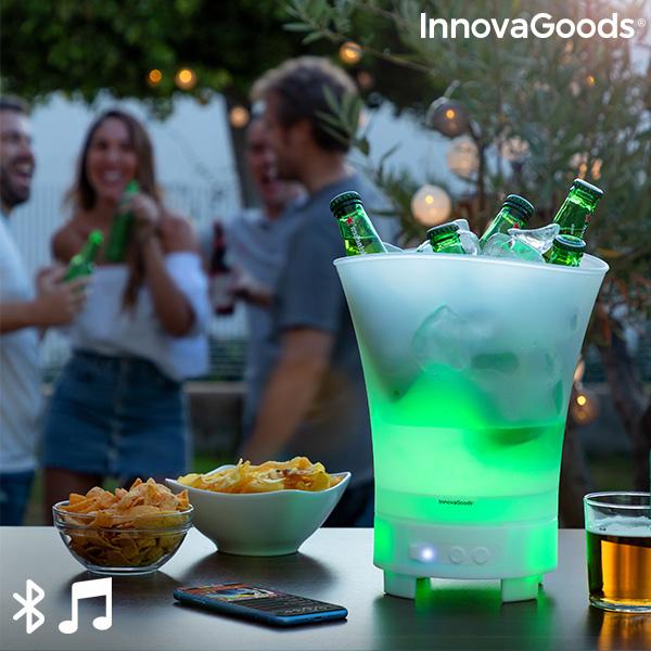 Bac à glaçons LED avec haut-parleur rechergeable Sonice InnovaGoods
