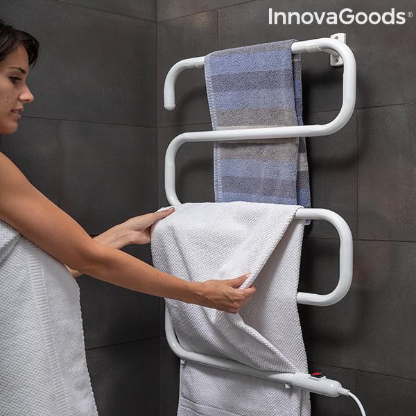 Porte-serviettes électrique pour mur ou sol S-dry InnovaGoods (5 Barres) 100W