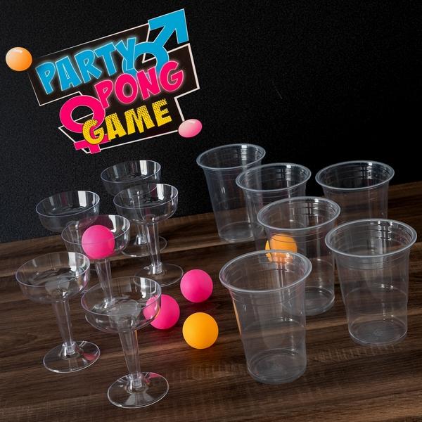Jeu a boire d habileté Party Pong 18 Pièces