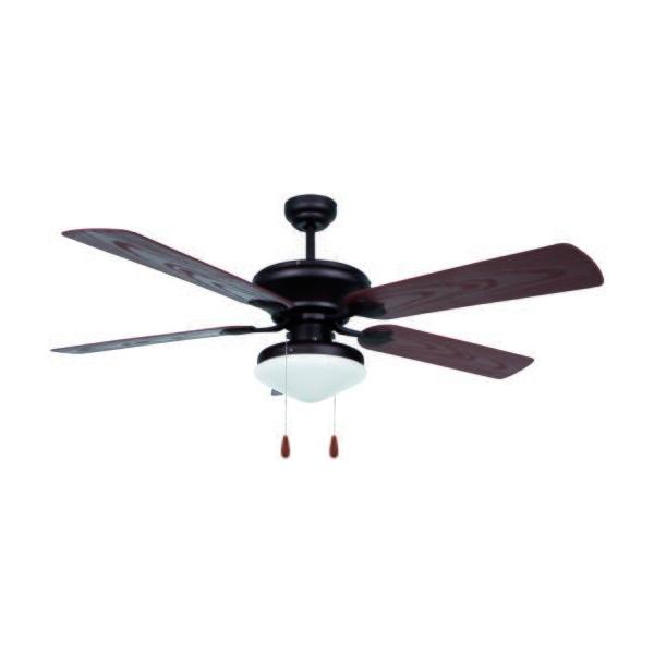 Ventilateur de Plafond avec Lumière Obergozo CP 73132 60W Noir