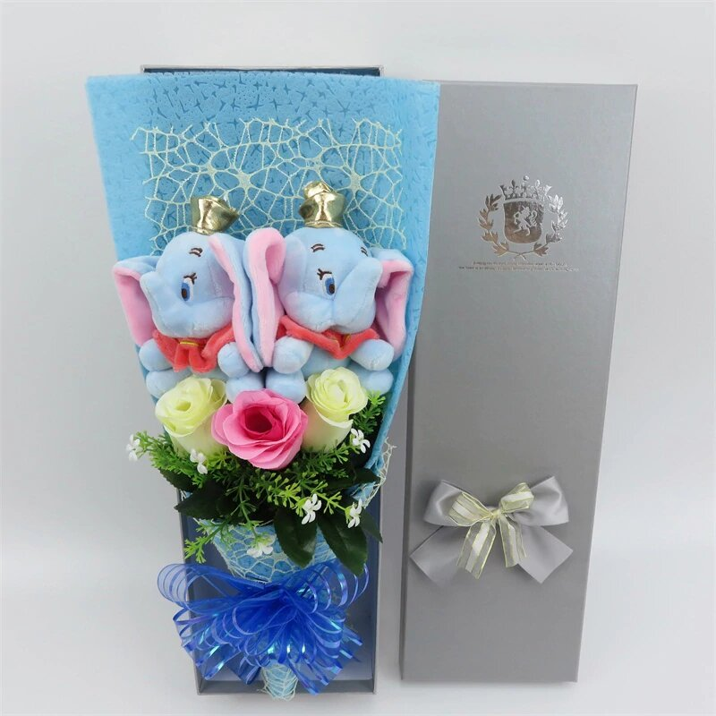 Bouquet de rose Dumbo peluche