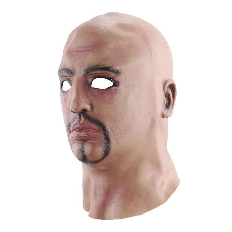 Masque homme chauve moustache site de déguisement