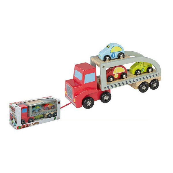 Camion porte-véhicules et Voitures Woomax Bois (5 pcs)
