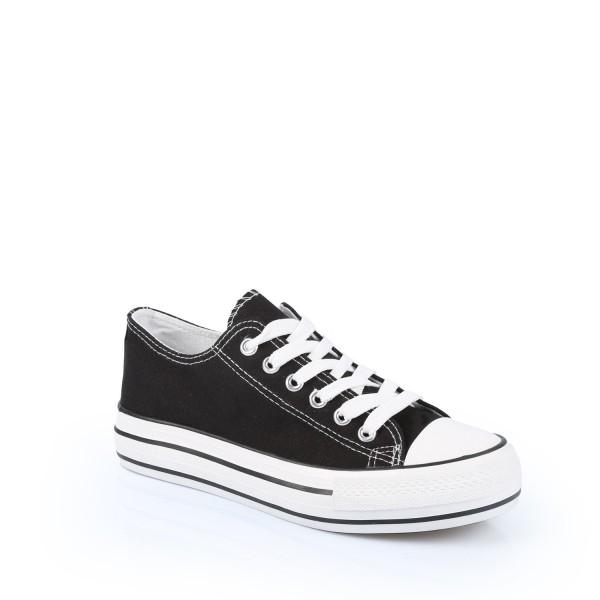 Basket Sneakers femme noir 36 au 41 noir Idéal Shoes w2255