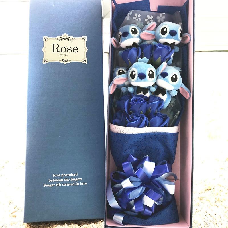 Bouquet stitch rose ou bleu fleurs de savon Totojay