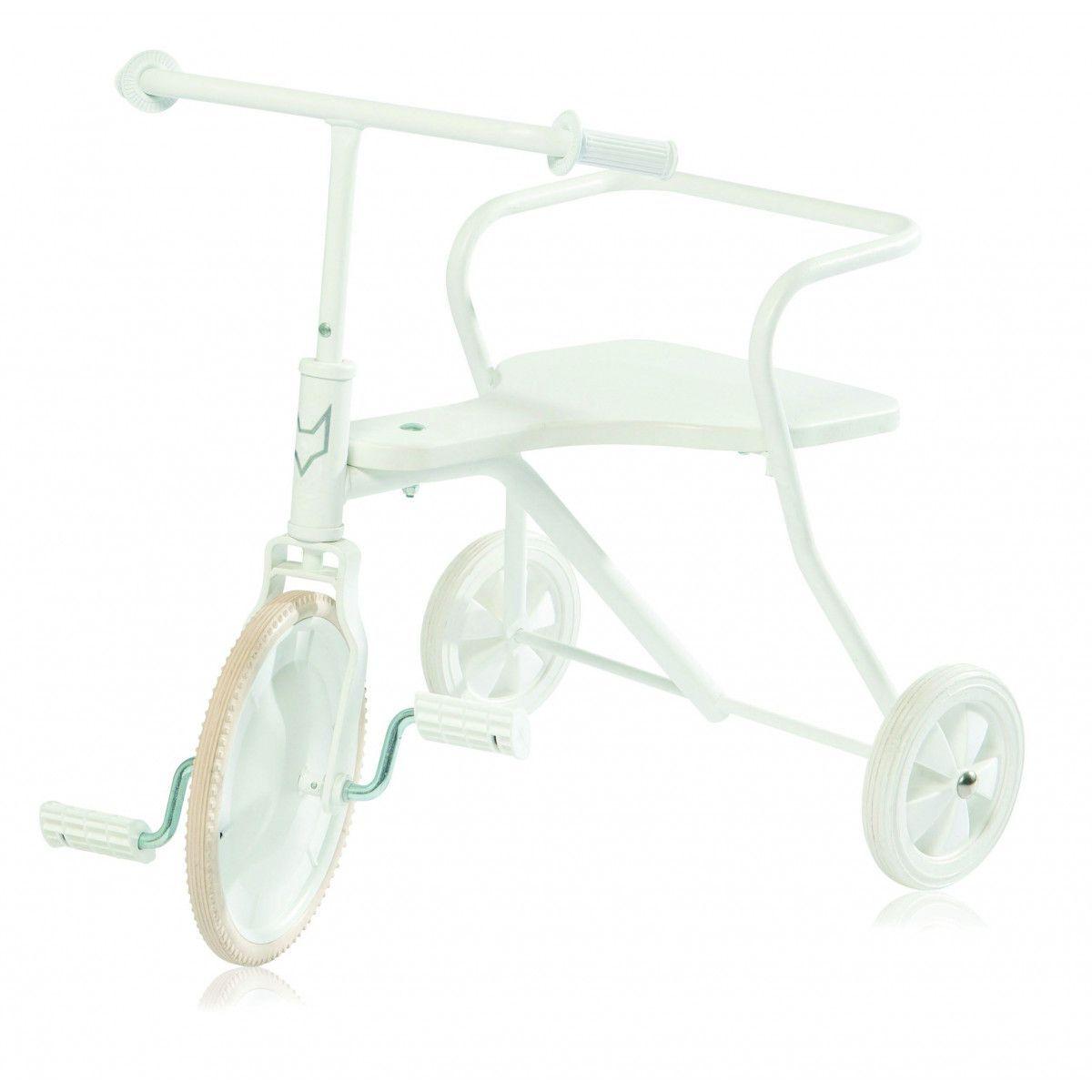 Tricycle enfant métal vintage classic Foxrider blanc