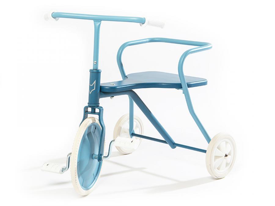 Tricycle enfant métal vintage classic Foxrider bleu