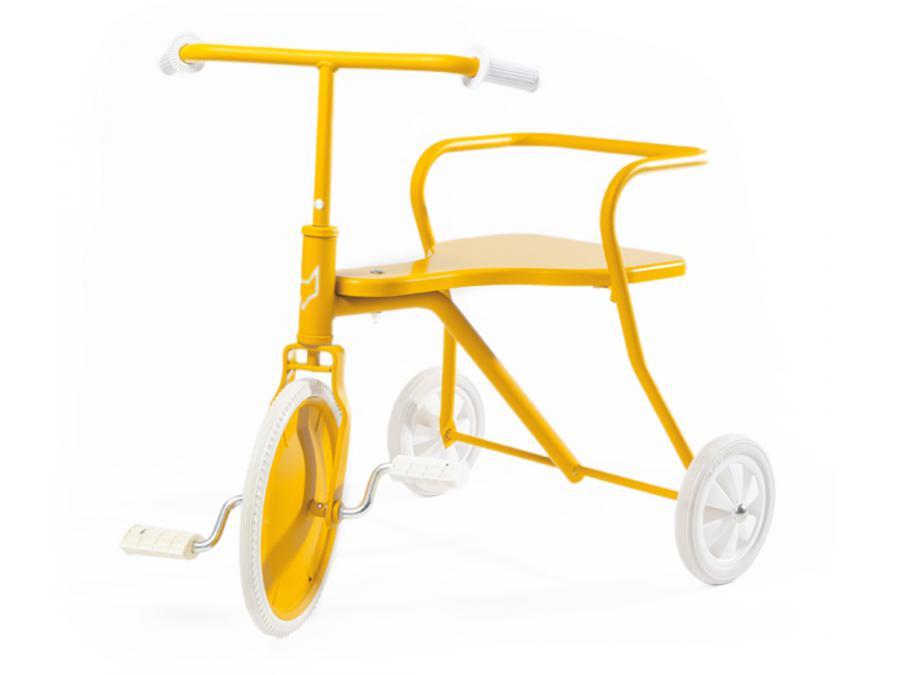 Tricycle enfant métal vintage classic Foxrider jaune