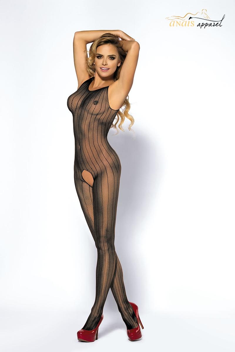 catsuit ouvert lingerie anais noir joyce
