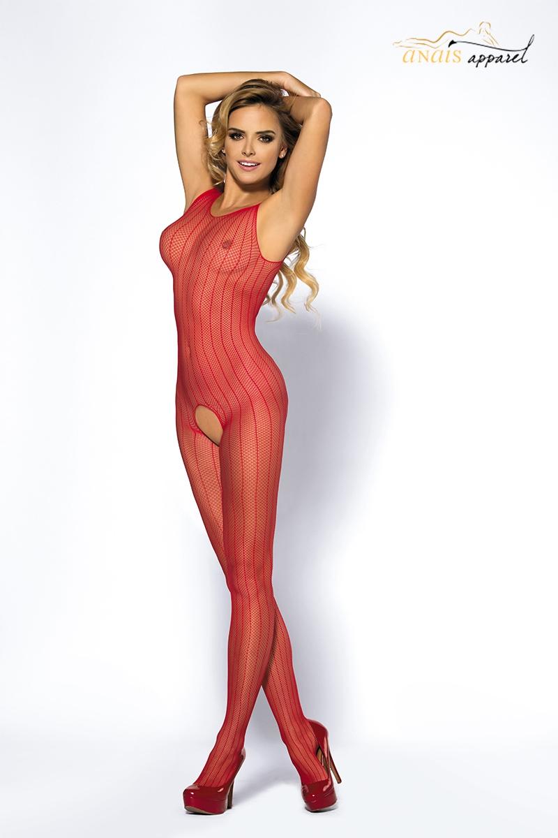 Combinaison sexy ouverte rouge joyce lingerie Anais