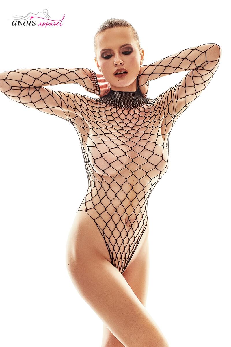 Body filet noir forca lingerie Anais S au XL