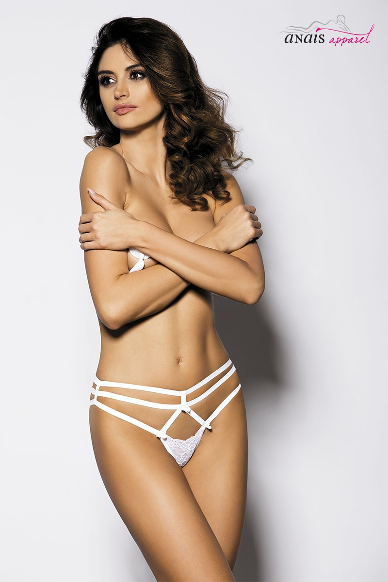 String harnais blanc cayenne lingerie Anais