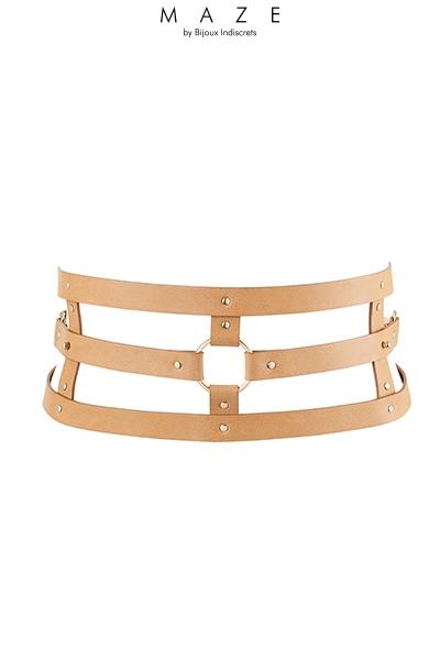 BDSM ceinture et menottes marron maze Bijoux indiscrets